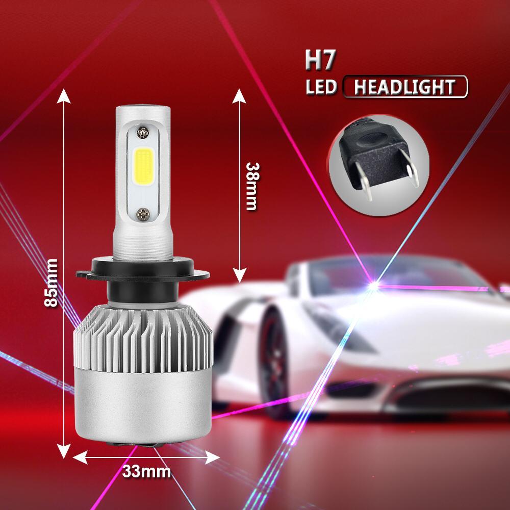 Kit 2 Lampada Super Led 12 24v 16000 Lumens H1 H3 H4 H11 HB4