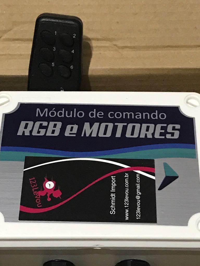 Kit Central De Comando para  Iluminação RGB Piscina e Motor da Piscina Com Controle Remoto