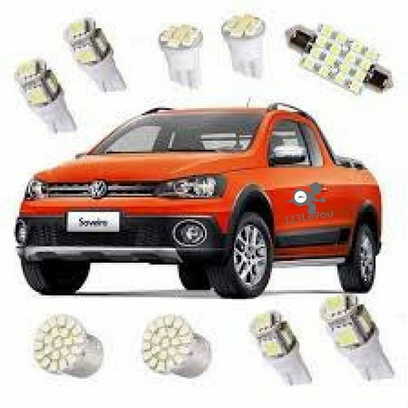Kit Lâmpadas de Led Para Saveiro Cross G5 ou G6