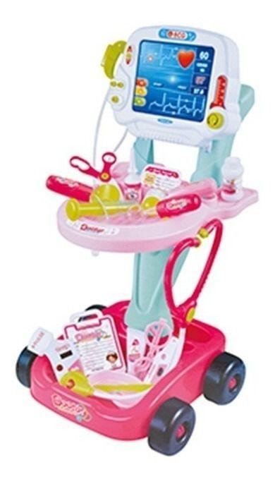 Kit Médico Mini Doutora Rosa - Azul Fênix Brinquedo Criança