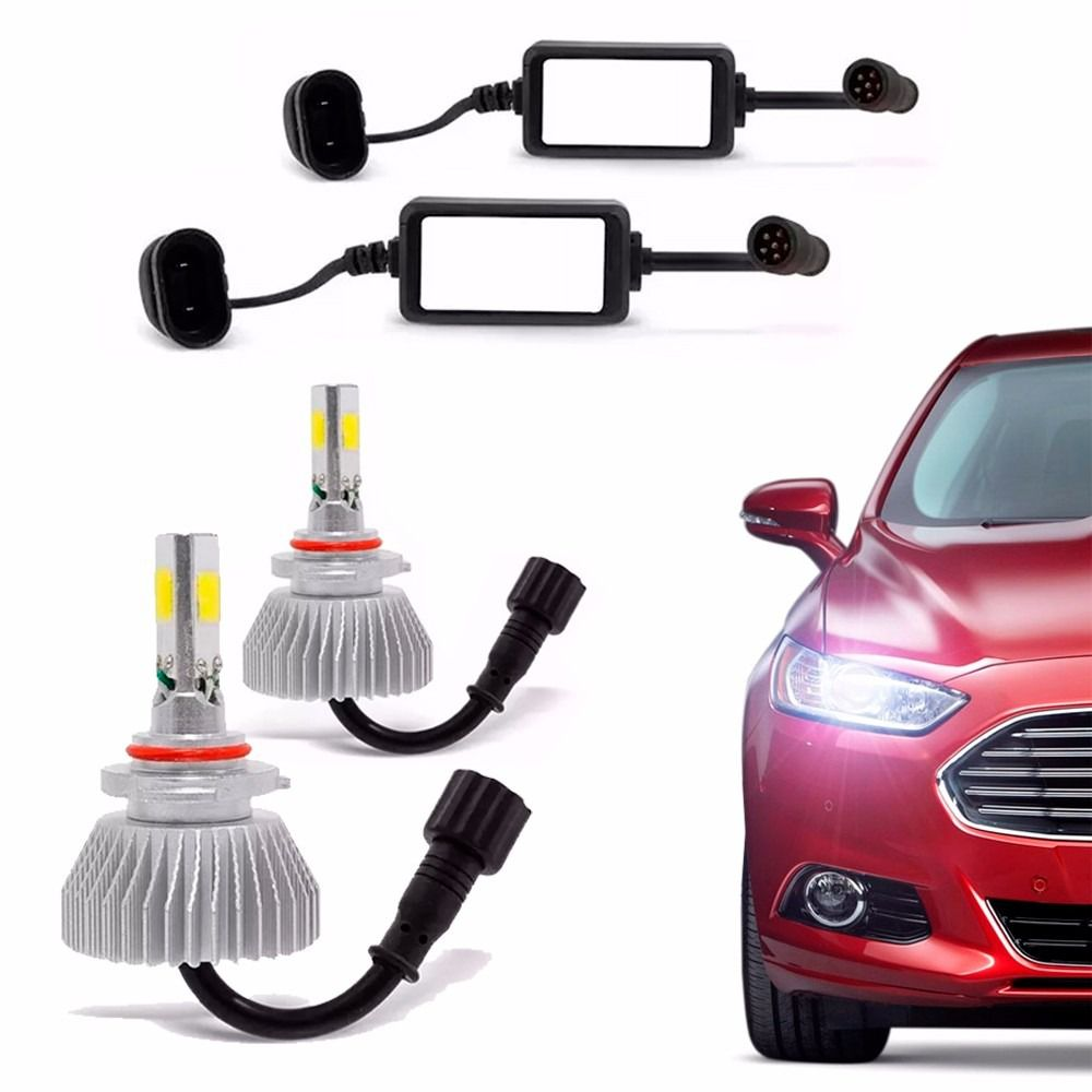 Kit Par Lampada Xenon Super Led 6000k H4 H7 H11 Hb4 H27 H16