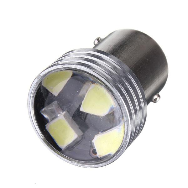 Lampada Ré 1 Polo Ba15s 1156 P21w 6 Led Lente Aumento Zoião