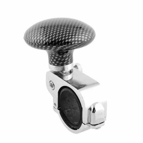 Manopla Mini Volante Pomo Giratorio Cromada Carbono Tuning Type R Ajuda Deficiente
