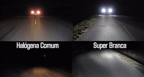 Par Lampada H4 Super Branca Tipo Xenon 8500k + Par Pingo Led