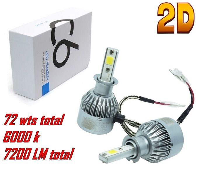 Par Lampada Super Led 72w 7200 Lumens Super Branca Tip Xenon