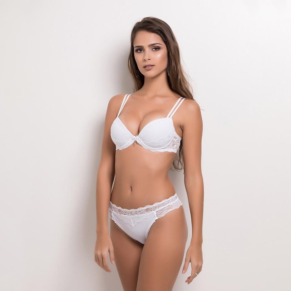 Conjunto lingerie com bojo fio 1095