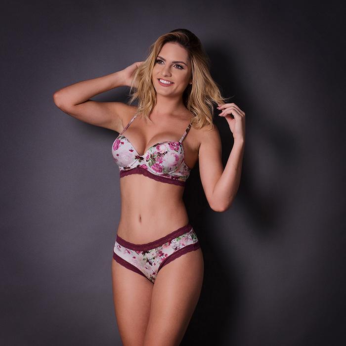 Conjunto lingerie digital com bojo 1067