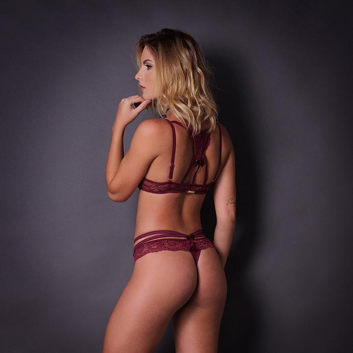 Conjunto lingerie laise com bojo 1062