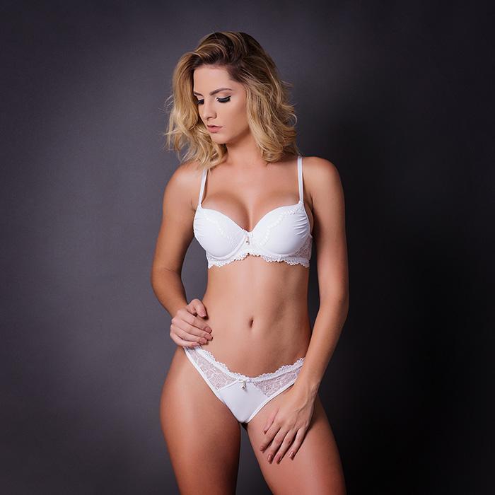 Conjunto lingerie renda com bojo 1047