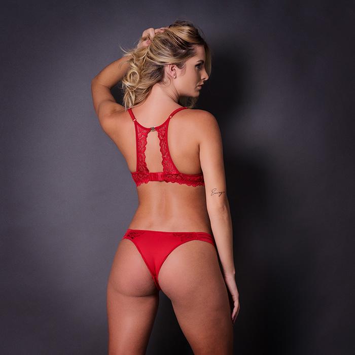 Conjunto lingerie renda com bojo 1060