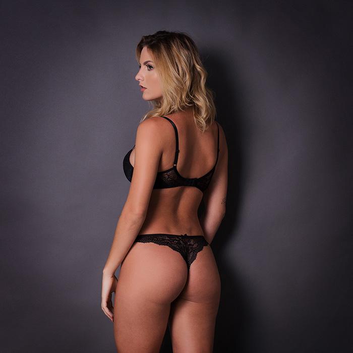 Conjunto lingerie renda com bojo 1079