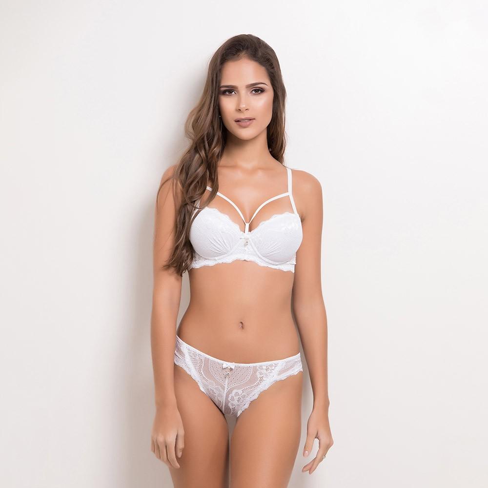 Conjunto lingerie renda strappy bra 1082