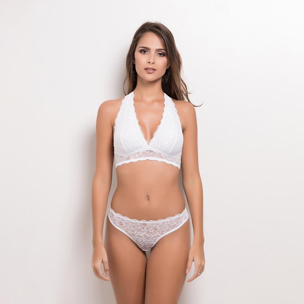 Conjunto lingerie sem bojo frente única 1101