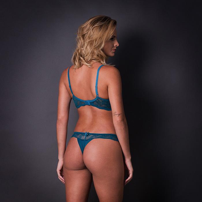 Conjunto lingerie strappy bra com bojo 1073