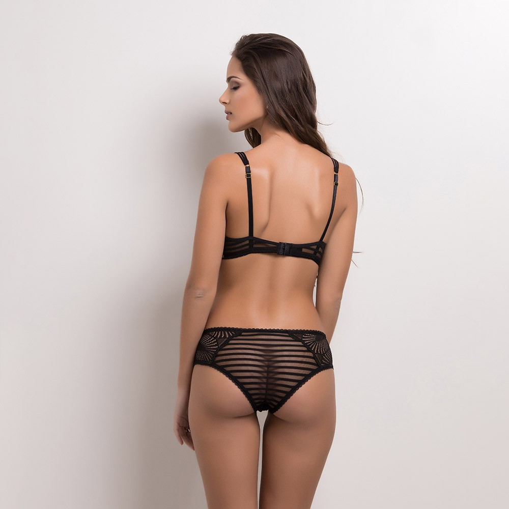 Conjunto lingerie tulle e renda 1084
