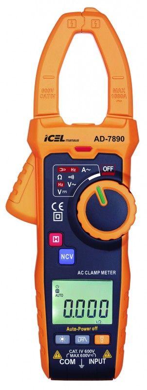 AD7890 - Alicate Amperímetro Com Detector de Tensão e Escala Automática