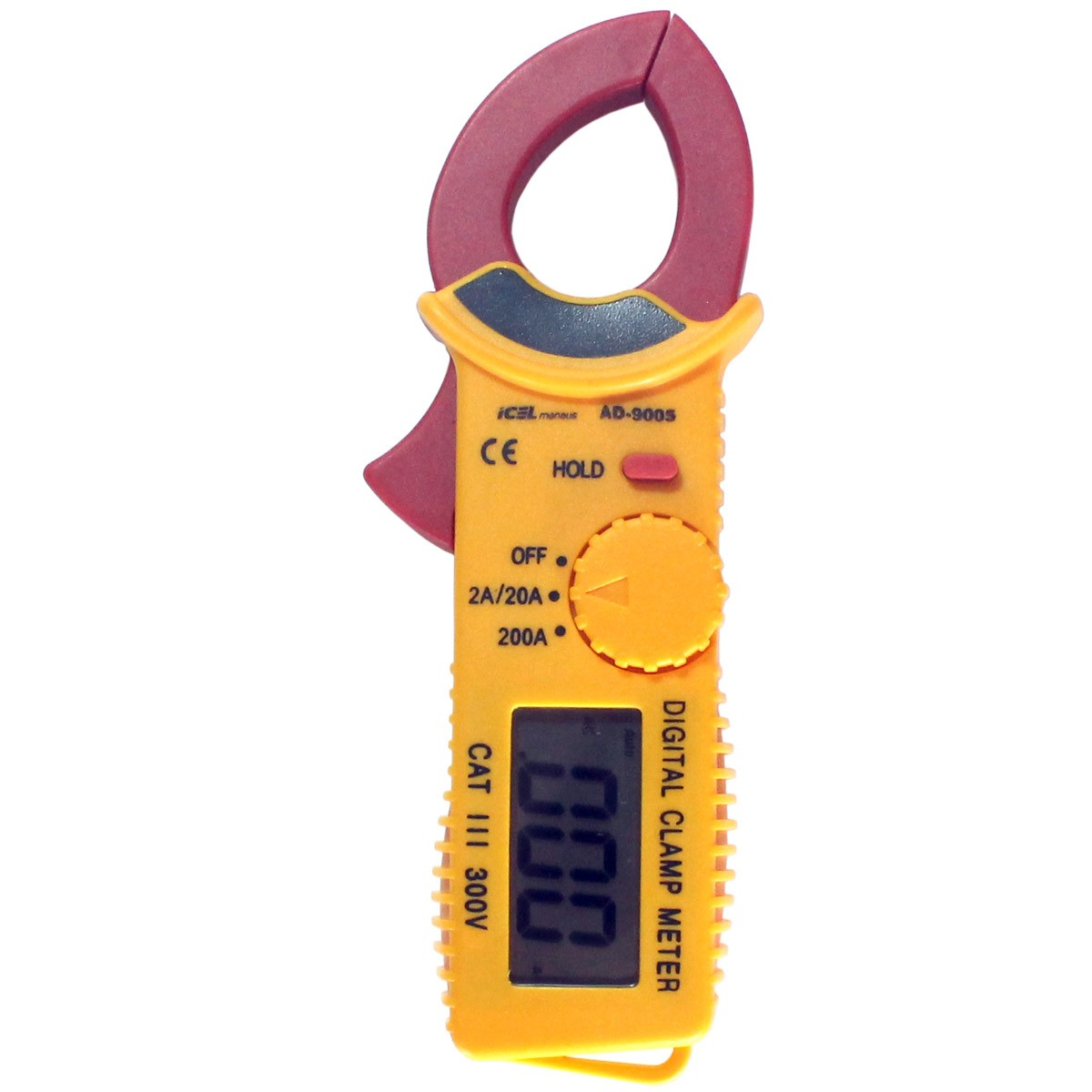 AD9005 - Mini Alicate Digital Icel Corrente AC: 200A  - Rio Link
