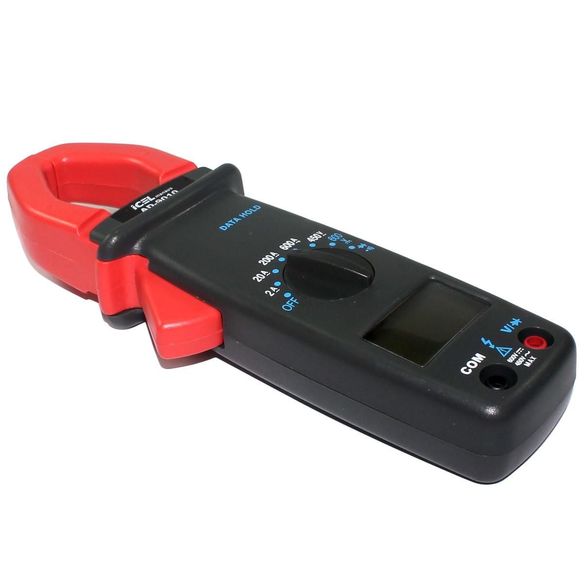 AD9010 - Alicate Digital Icel Tensão DC: 600V AC: 450V Corrente AC: 600A  - Rio Link