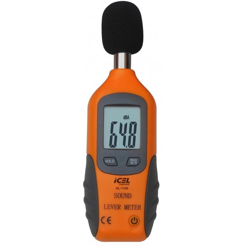 DL1100 - Decibelímetro Icel FREQUÊNCIA: 31,5 A 4KHz ESCALA: 40 A 130dB  - Rio Link