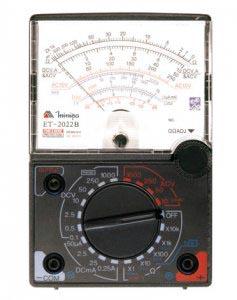 ET2022B - Multímetro Analógico Minipa Tensão AC/DC: 1.000V Sensibilidade: 9kΩ/V  - Rio Link