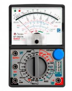 ET3021A - Multímetro Analógico Minipa Tensão AC/DC: 1.000V Resistência: 20MOHM