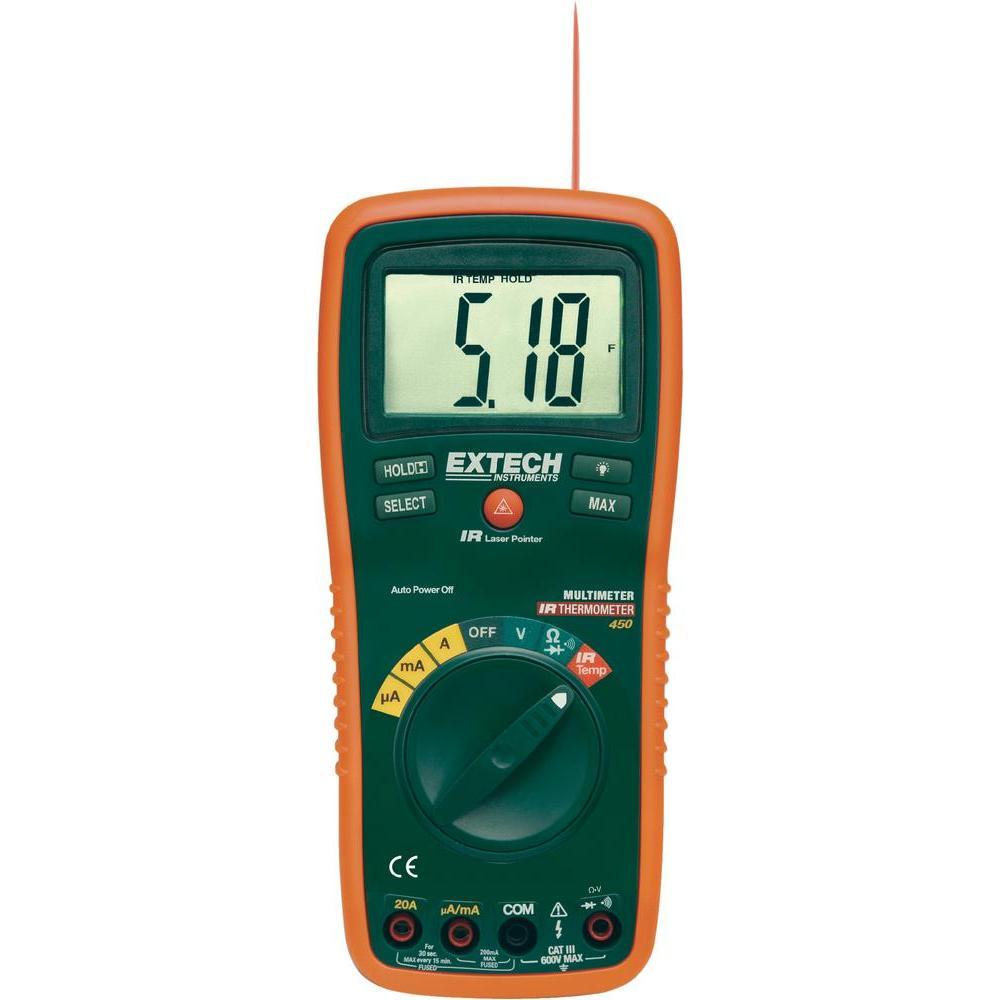 EX450 - Multímetro Digital Extech profissional com 8 funções  - Rio Link