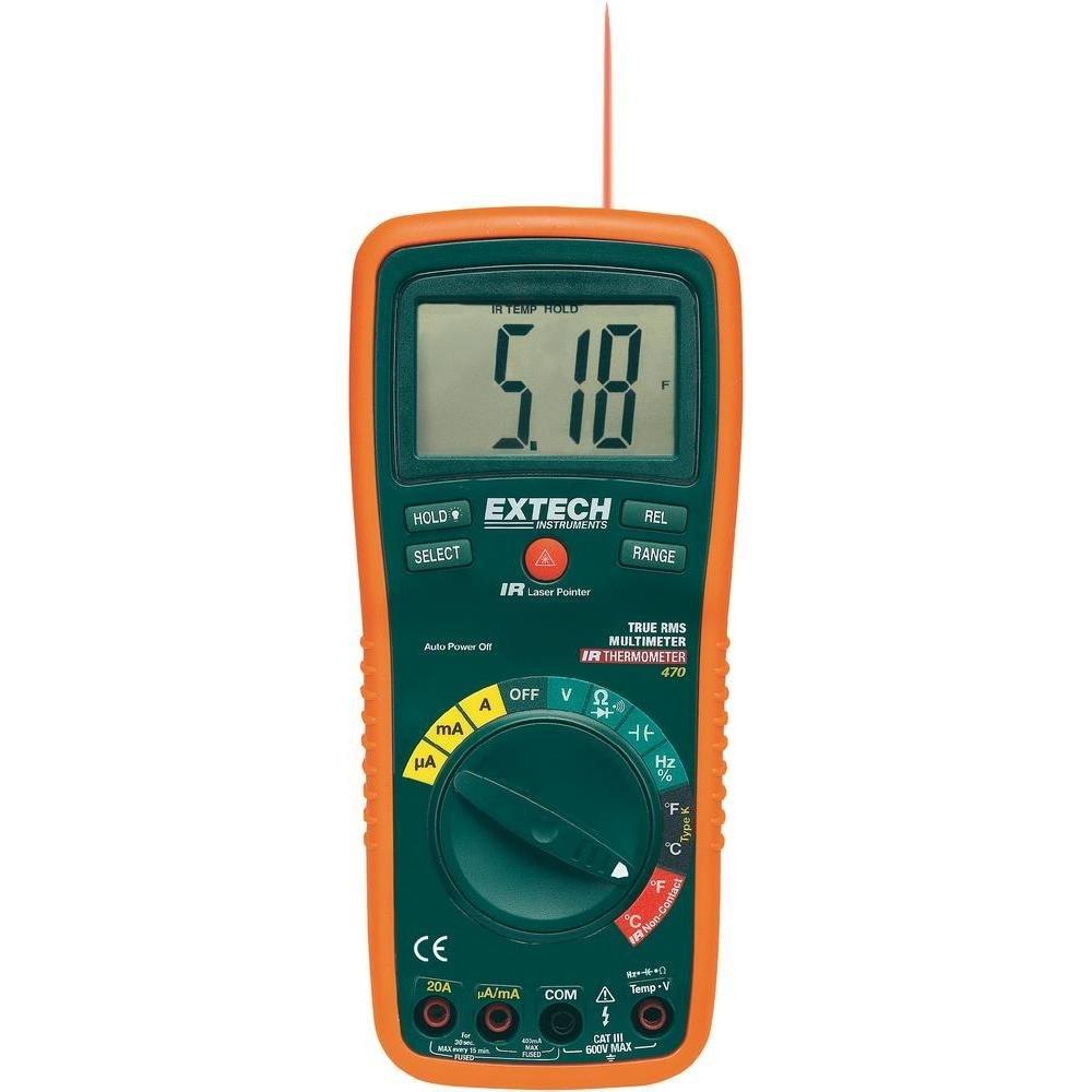 EX470 - Multímetro Digital Extech com 12 funções e precisão básica de 0,3%  - Rio Link