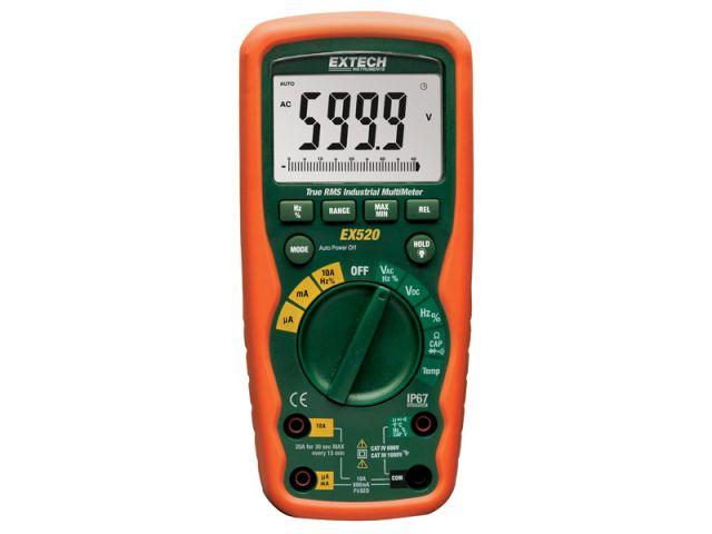 EX520 - Multimetro Industrial Extech True RMS, Com 11 funções  - Rio Link