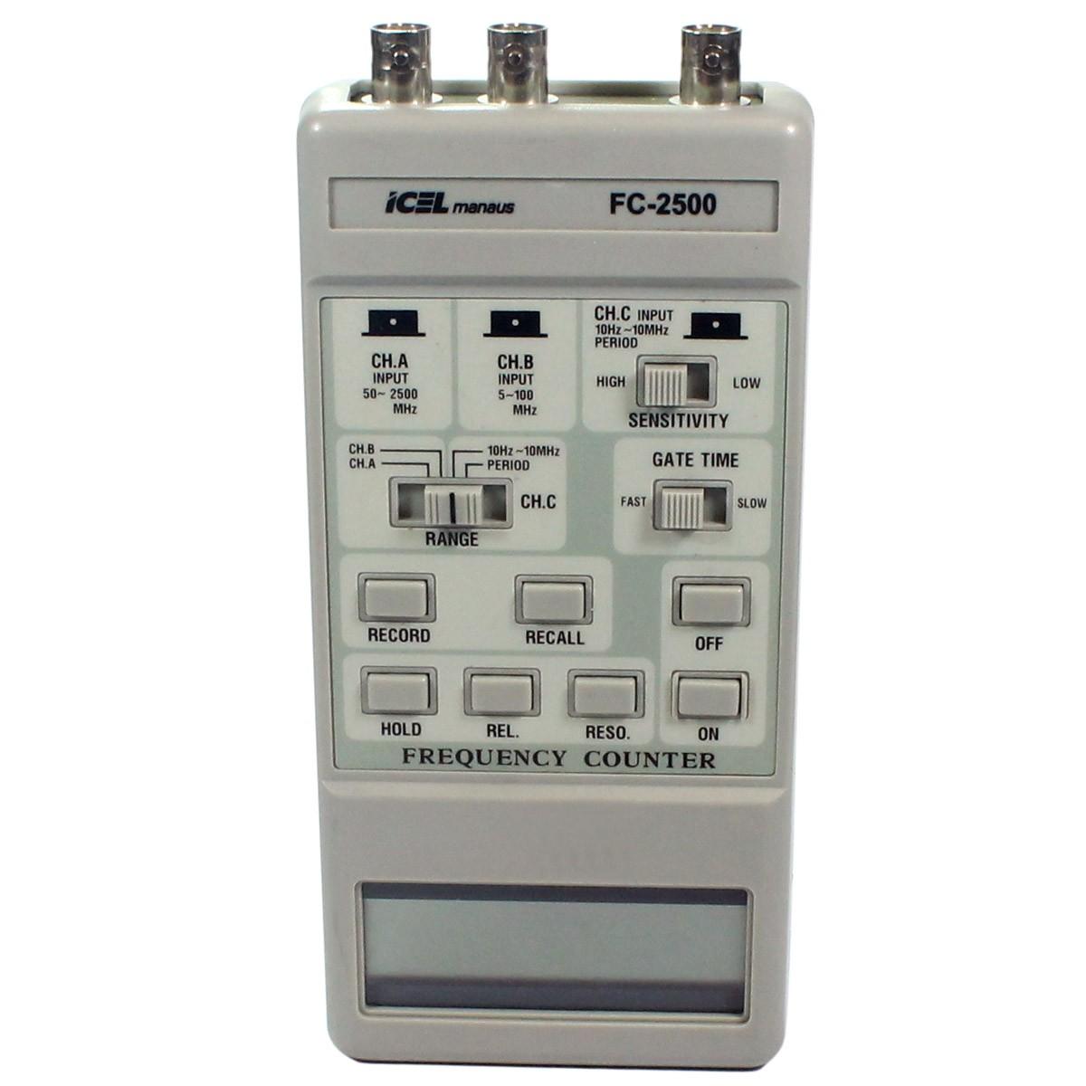 FC2500 - Frequencímetro Digital Portátil De 0 A 2.500MHz