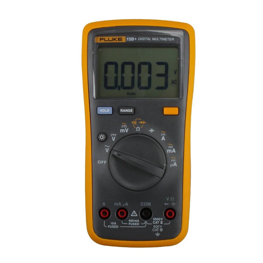 Fluke 15B - Multímetro Digital Tensão AC/DC 1000V Corrente 10A, Resistencia e Frequencia   - Rio Link