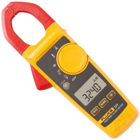Fluke 324 - Alicate Amperímetro Corrente AC 400A, Temperatura e Capacitância.