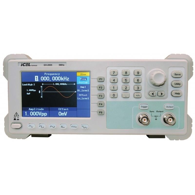 Gerador de Funções Arbitrarias ICEL GV2005 frequencia 5MHz - 1 canal