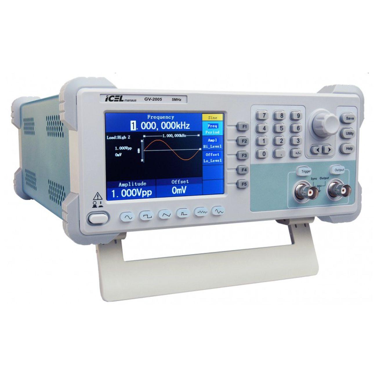 Gerador de Funções Arbitrarias ICEL GV2005 frequencia 5MHz - 1 canal  - Rio Link