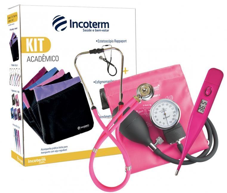 Kit medico para Academia - Termômetro, Estetoscópio e Esfigmomanômetro Aneróide  - Rio Link