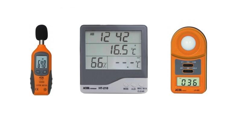Kit Segurança Do Trabalho - Luxímetro, Decibelímetro e Termohigrometro.