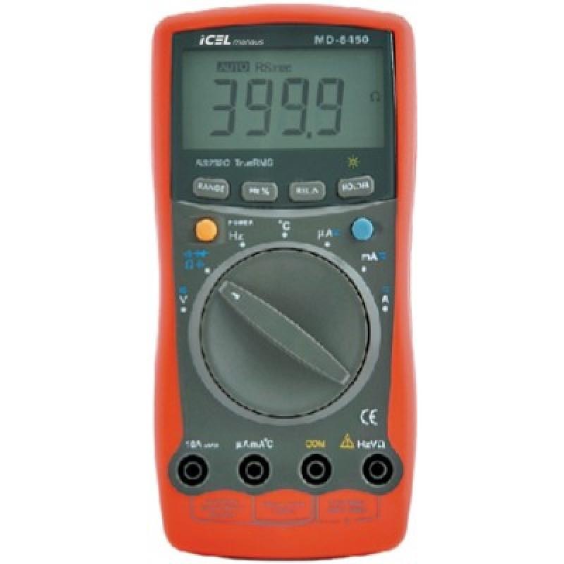 MD6450 - Multímetro Digital Icel TRUE RMS Com Interface RS-232C  - Rio Link