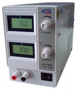 PS1500 - Fonte de Alimentação Simples ICEL Saída: 0-15V / 0-3A  - Rio Link