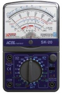 SK20 - Multímetro Analógico Icel Tensão AC/DC 1.000V Corrente DC: 10A RESISTÊNCIA:  20MOHM  - Rio Link