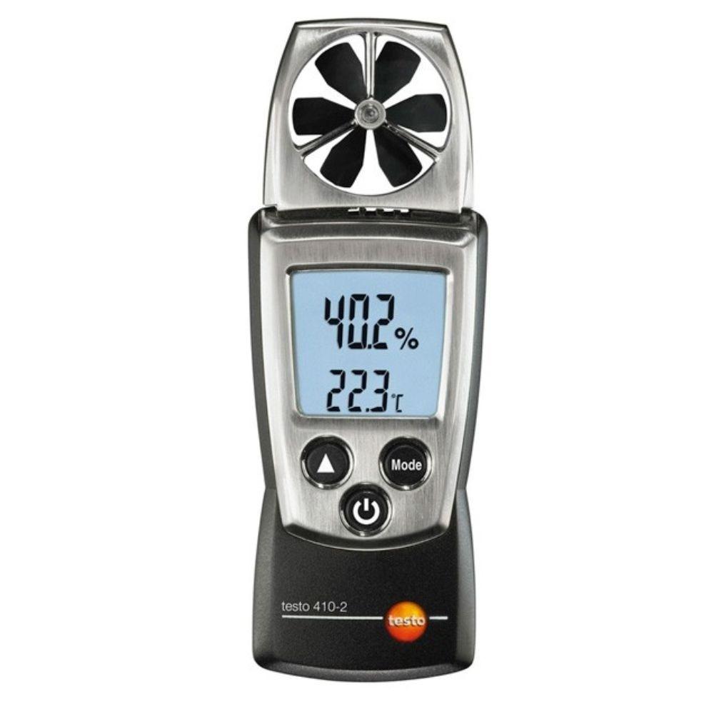 Testo 410-2 - Anemômetro de bolso com medição de umidade integrada