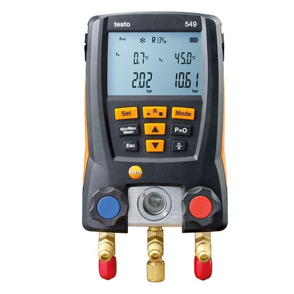 testo 549 - Manifold digital p/ medição de pressão em sist. de refrigeração  - Rio Link