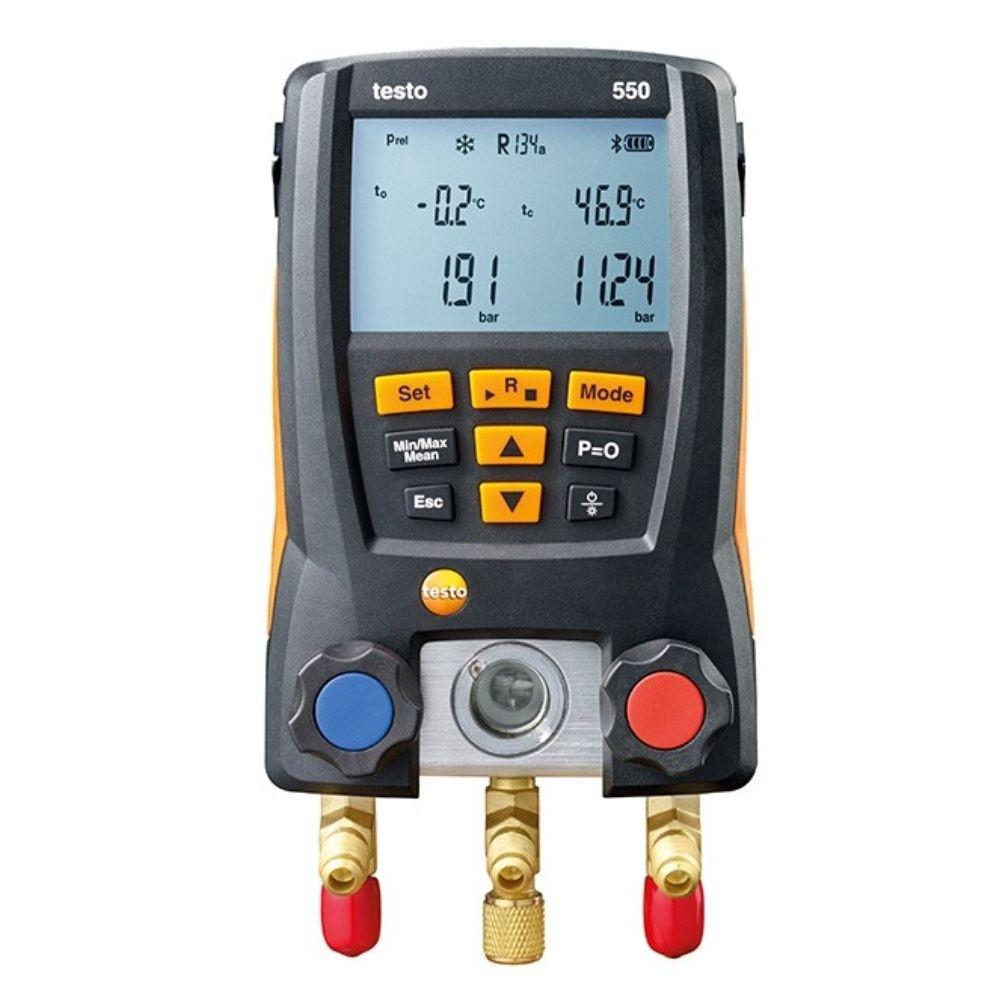 Testo 550 - Manifold Digital p/ medição de pressão em sist. de refrigeração c/ bluetooth  - Rio Link