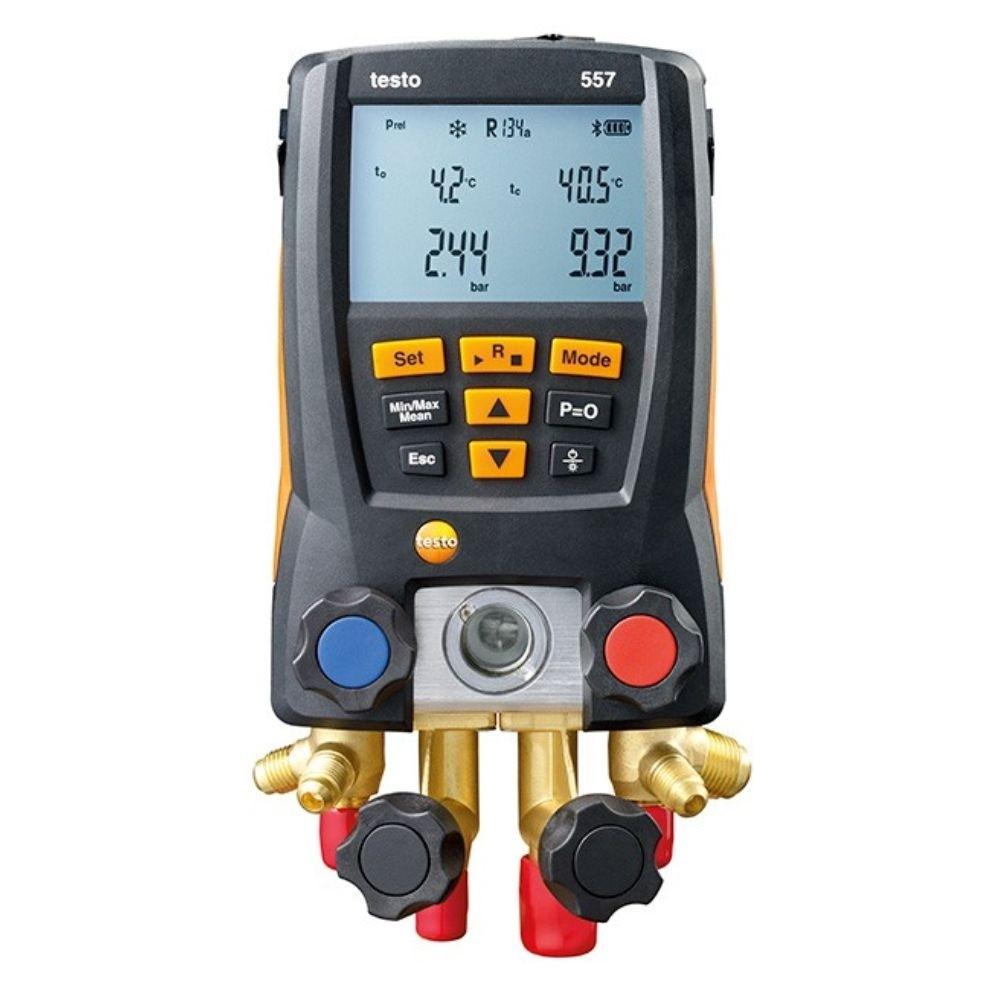 Testo 557 - Manifold digital p/ medição de pressão em sist de refrigeração c/ bluetooth  - Rio Link