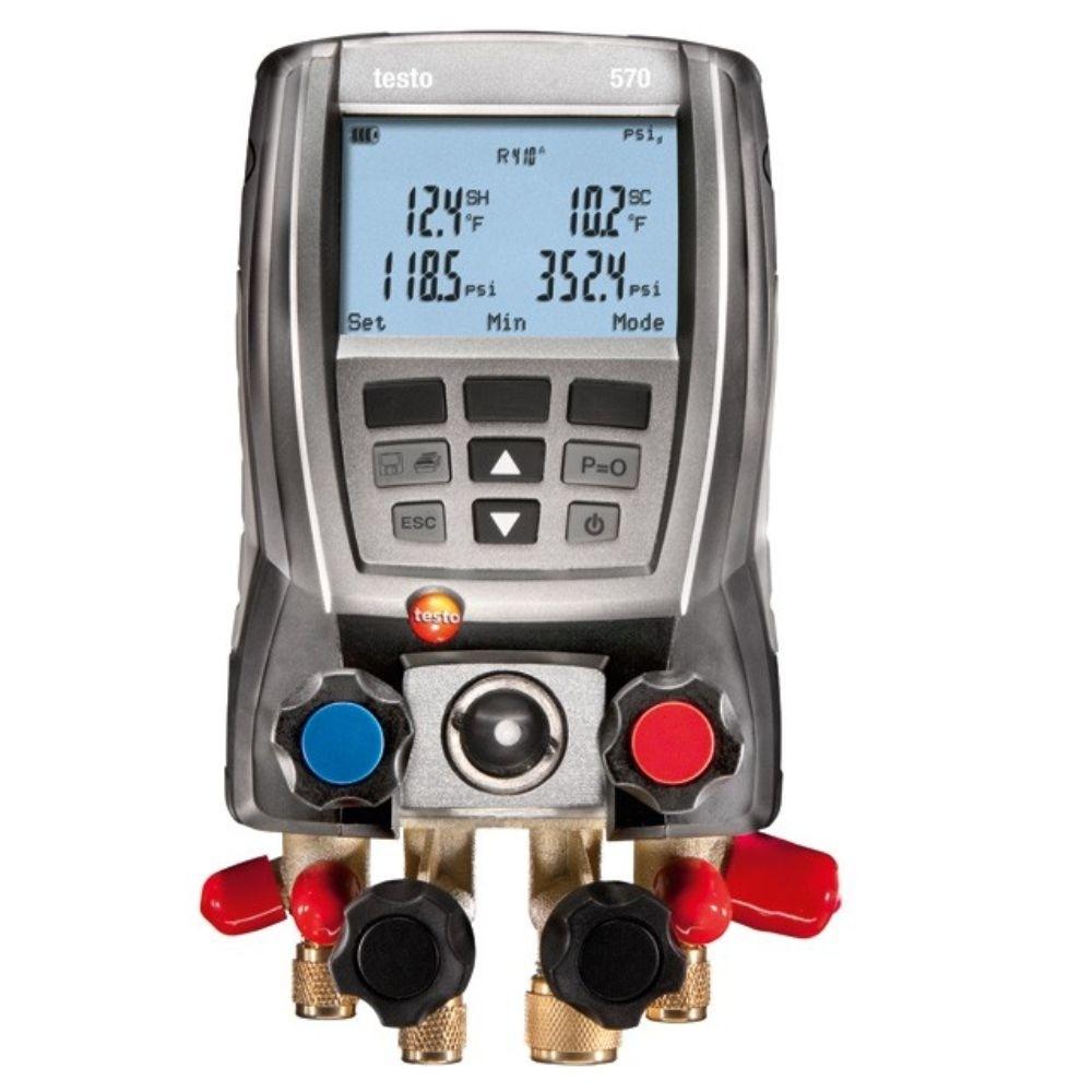 Testo 570-1 - Kit inclui 1 Sonda de Temperatura Tipo Alicate, Baterias  - Rio Link