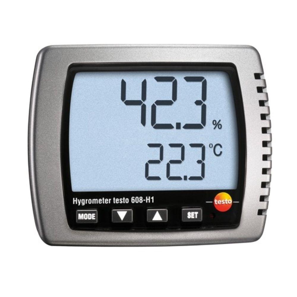 Testo 608 H1 - Termometrográfico Com o cálculo do Ponto de Orvalho, máx./mín.  - Rio Link