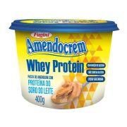 Pasta de Amendoim Amendocrem Whey Protein Pote 400g Fugini