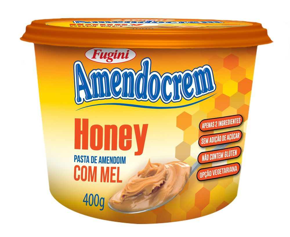 Pasta de Amendoim Amendocrem Honey Pote 400g Fugini