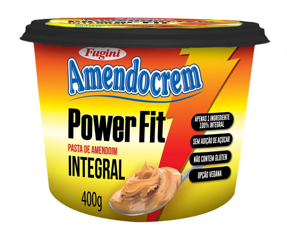 Pasta de Amendoim Amendocrem Power Fit Pote 400g Fugini
