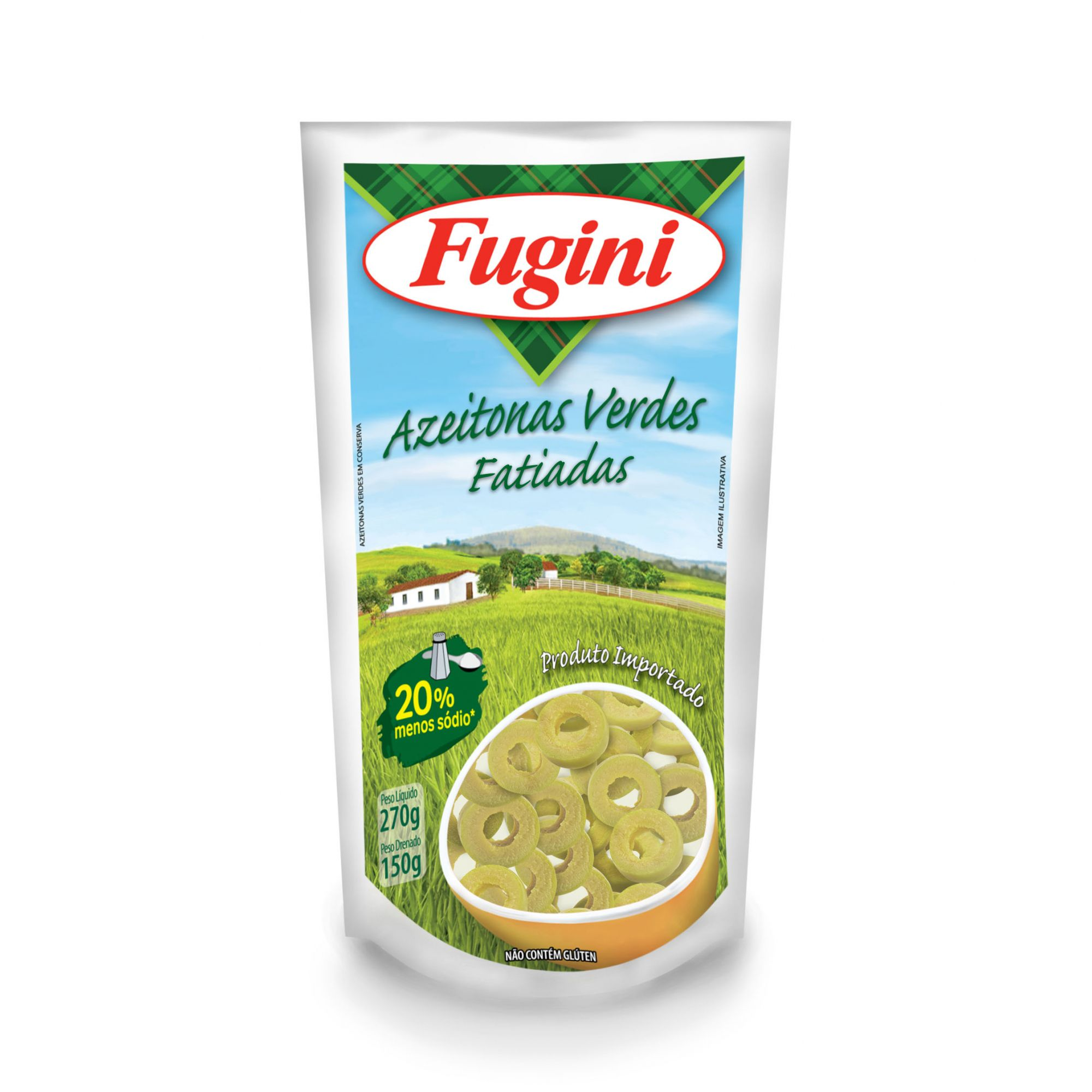 Azeitonas Verdes Fatiadas Sachê 150g Fugini