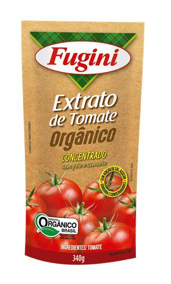Extrato de Tomate Orgânico Sachê 340g Fugini