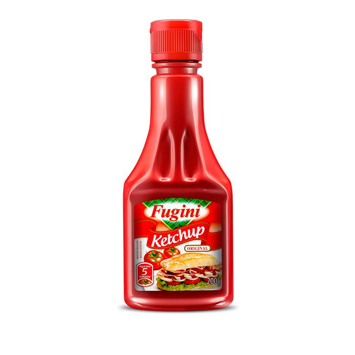 Ketchup Tradicional Frasco 200g Fugini